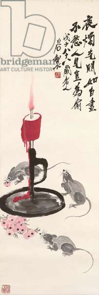 Three Mice in the Candlelight, 1948 (ink on paper)