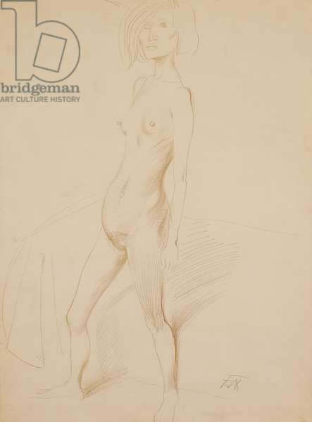 Nude; Akt, 1931 (silver point on paper)