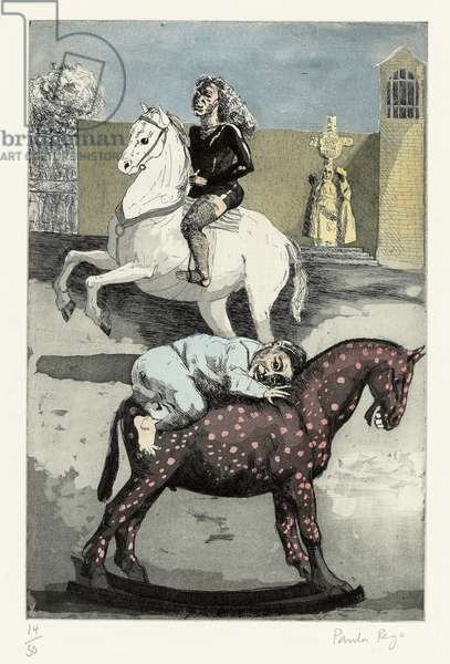 Ride a Cock-horse to Banbury Cross, 1989 (etching and aquatint, handcolouring)