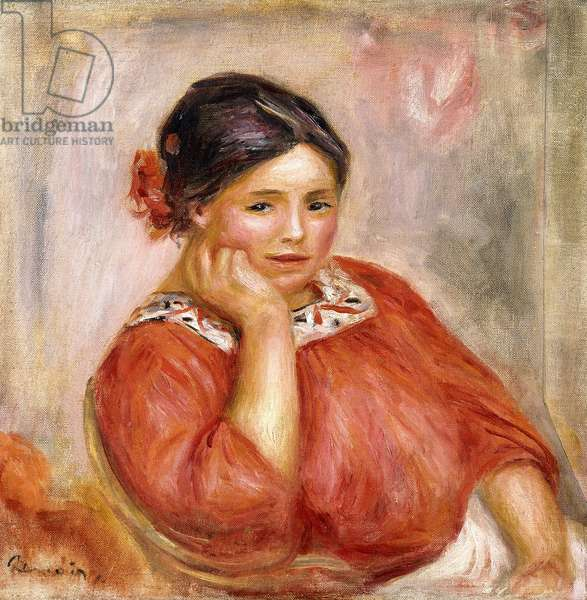 Portrait of Gabrielle in a Red Blouse, 1896 (oil on canvas)