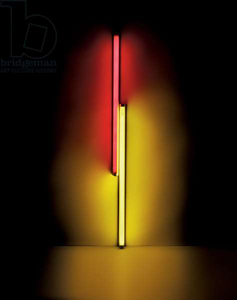 Untitled, 1968 (red and yellow fluorescent light)