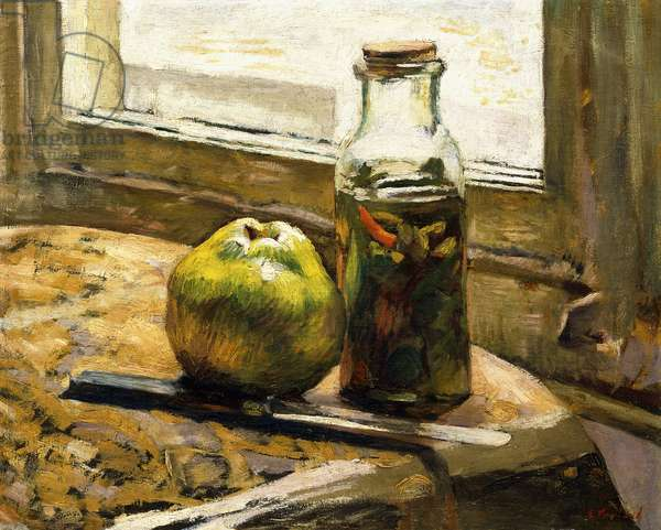 Jar of Pickles and Apple, 1889-90 (oil on canvas)