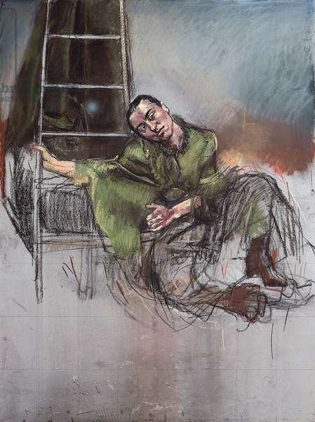 Deposition, 2000 (pastel and graphite on paper laid down on aluminium)