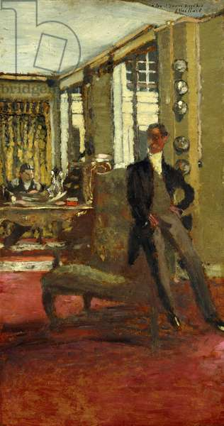The Art Dealers (Les Frere Bernheim); Le Marchands de Tableaux (Les Frere Bernheim), 1912 (oil on board laid on panel)