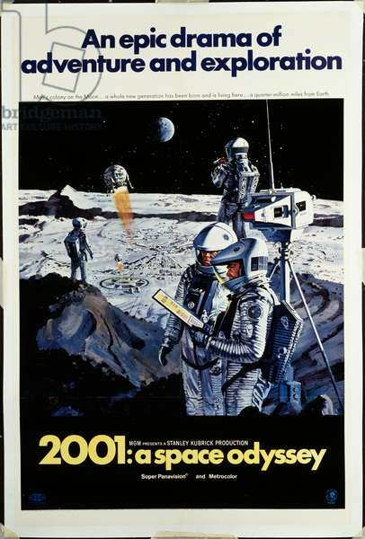 2001: A Space Odyssey, 1968 (lithograph in colours)