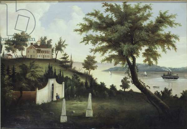 Mount Vernon, home of George Washington, on the Potomac River, c.1860 (oil on canvas)