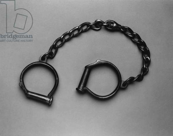 Slave chains, 1850 (iron)