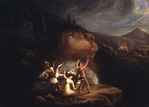 Massacre of Jane McCrea, 1777, early 19th century (oil on canvas)