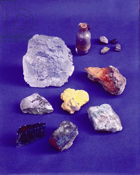 Stones used by Marie Curie (1867-1934) during her experiments