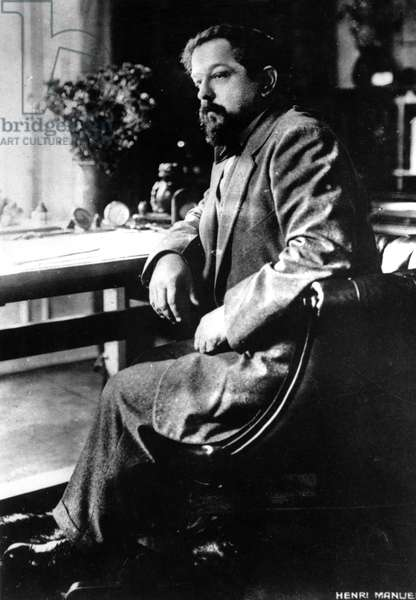 Claude Debussy (b/w photo)