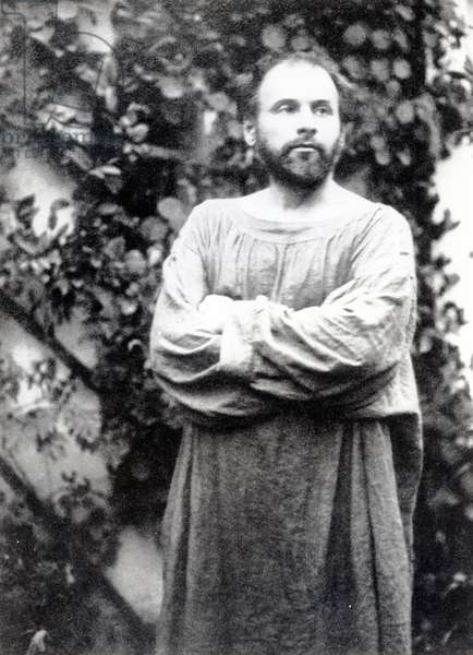 Gustav Klimt, c.1900 (b/w photo)