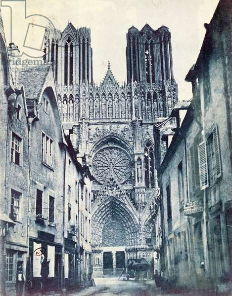 Rheims Cathedral c.1851 (cyanotype)