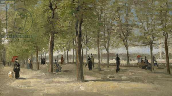 Terrace in the Luxembourg Garden, 1886 (oil on canvas)