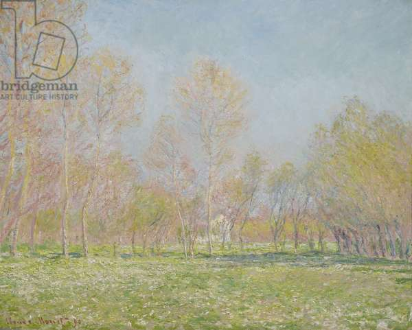 Spring in Giverny, 1890 (oil on canvas)