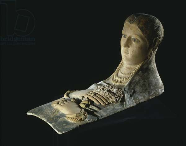 Mummy mask of a woman from Antinoe