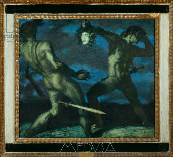 Perseus with the Head of Medusa, 1908 (oil on board)