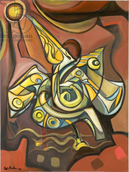 Pelican, 2005, (oil on canvas)