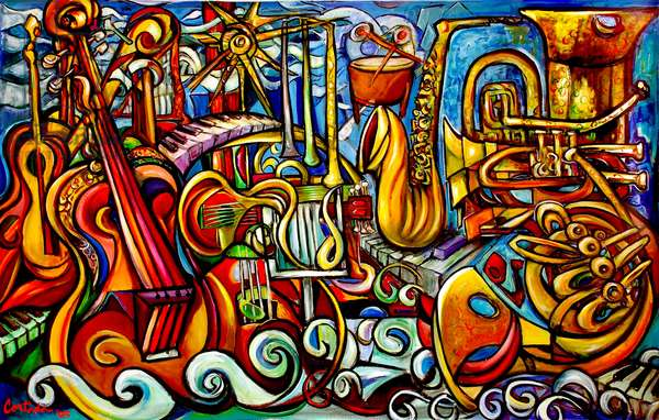 Music (acrylic on canvas)
