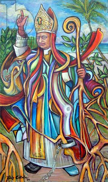 Bishop Verot, 2004 (acrylic on canvas)
