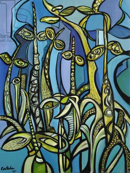Mangroves (on Blue) 2005 (acrylic on canvas)
