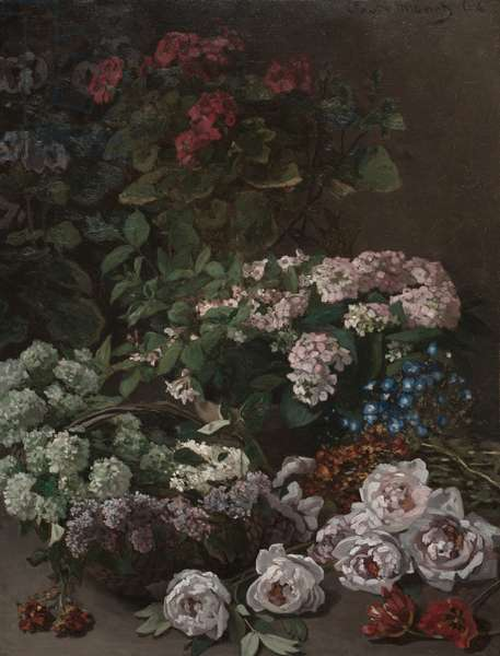 Spring Flowers, 1864 (oil on fabric)