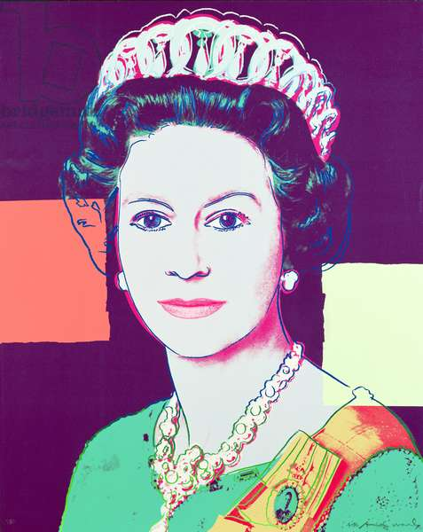 Queen Elizabeth II, 1985 (screenprint)