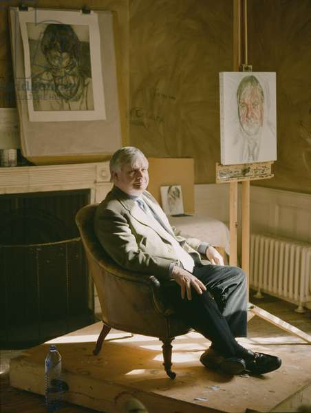 Pat Doherty sitting for Lucian Freud's 'Donegal Man', 2006 (photo)