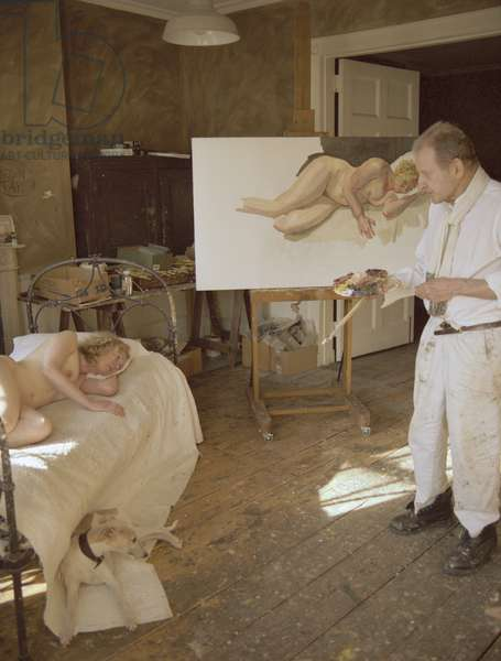 Lucian Freud painting Ria Kirby, 2006 (photo)