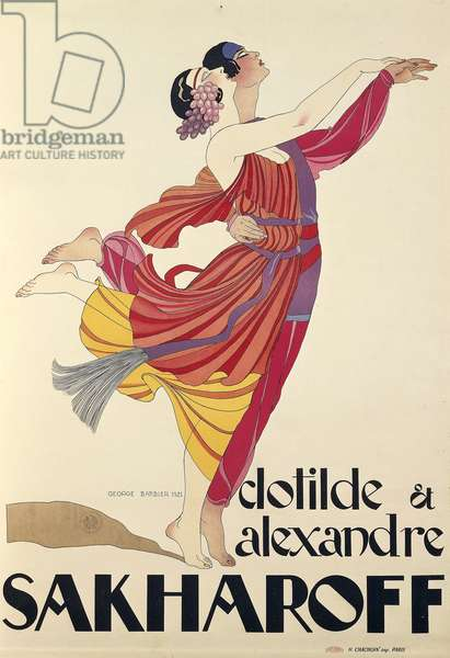Clotilde and Alexandre Sakharoff by George Barbier , posters, 1921