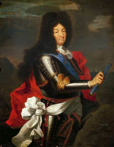 Portrait of Louis XIV of France (oil on canvas)