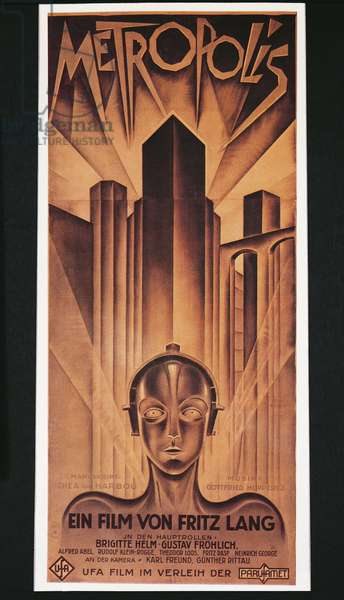 Poster for Fritz Lang's film 'Metropolis', 1926 (colour litho)