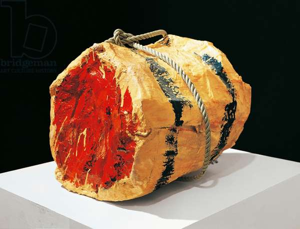 Roast beef, 1961, by Claes Oldenburg (1929), sculpture in plaster, metal, enamel and cord. 20th century.