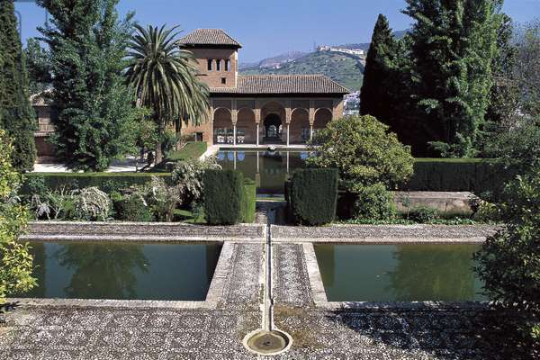 Spain, Andalusia, Granada, Alhambra, Gardens of Partal