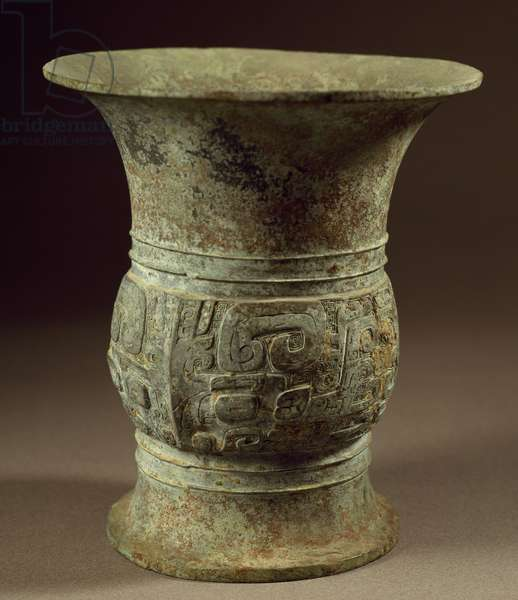 Bronze wine cup, China, Chinese Civilisation, Zhou Dynasty, 9th century BC