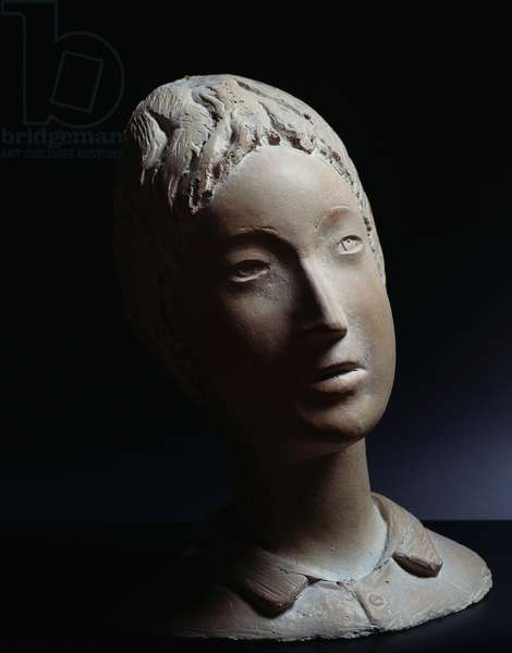 Bust of a young girl, 1930, by Arturo Martini (1889-1947). Italy, 20th century.