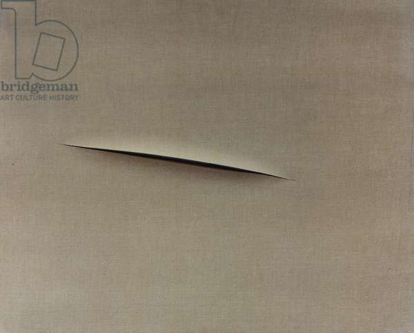 Spatial concept, Waiting, by Lucio Fontana (1889-1968). Italy, 20th century.