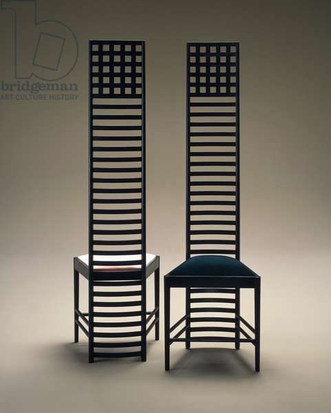 Hill House chairs, 1903-1905, by Charles Rennie Mackintosh (1868-1928), UK, 20th century