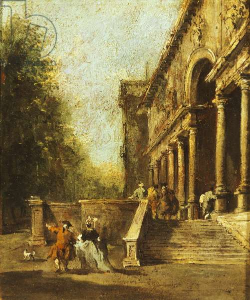 Peristyle of villa by Francesco Guardi (1712-1793)