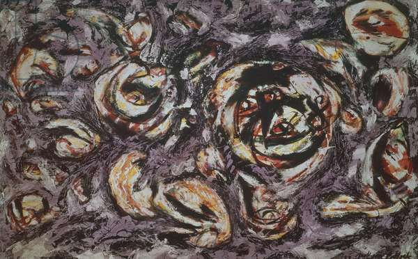Ocean grayness, 1953, by Jackson Pollock (1912-1956), oil on canvas, 147x229 cm. United States of America, 20th century.