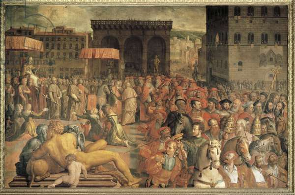 Italy, Florence, Pope Leo X (Giovanni de Medici) coming back to Florence after his election