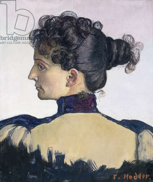 Portrait of Mademoiselle Berthe Jacques, artist's wife, 1894, by Ferdinand Hodler (1853-1918)