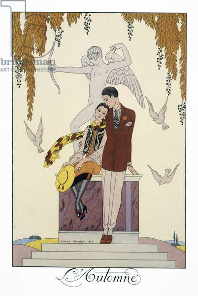 L'Automne, lithograph by George Barbier (1882-1932), from Falbalas et Fanfreluches, Almanach des Modes Presentes, Passees et Futures, 1926, France, 20th century