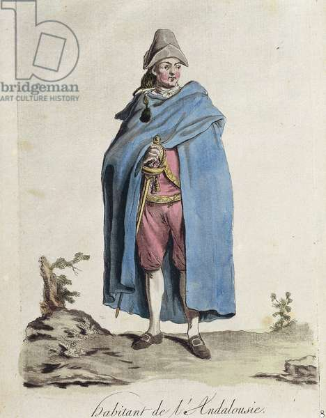 Man from Andalusia, engraving, 1787