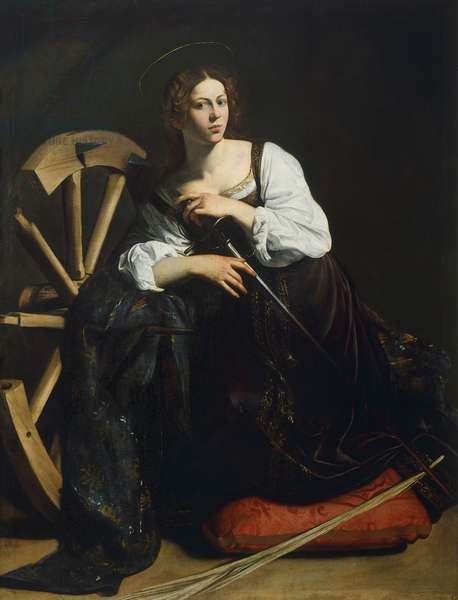 St Catherine of Alexandria, Michelangelo Merisi, known as Caravaggio (1571-1610), oil on canvas, 173x133 cm, 1597