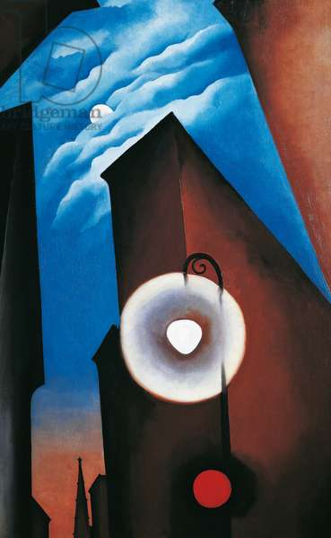 New York Street with moon, 1925, by Georgia O'Keeffe (1887-1986), oil on canvas, 122x177 cm. United States of America, 20th century.