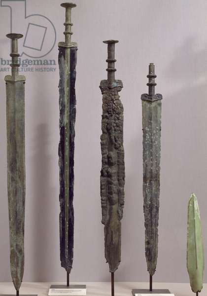 Bronze swords and spearheads, China, Chinese Civilization, Eastern Zhou Dynasty, Warring States Period, 5th-3rd century BC