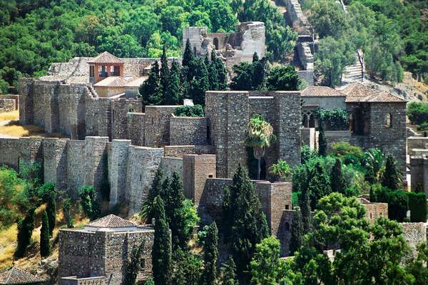Fortress of Alcazaba, Malaga, Andalusia, Spain, 11th-13th century