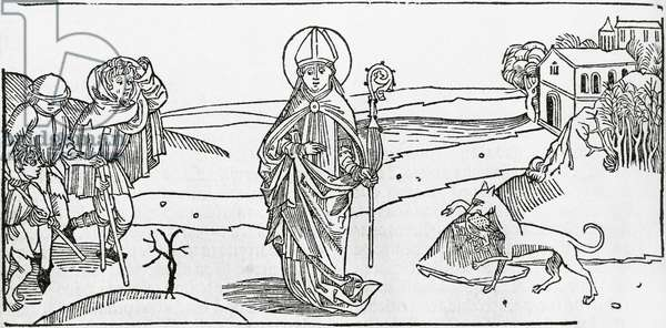Episode in the life of John Chrysostom (345-354 - 407), saint and Early church father, Spanish engraving, 1530
