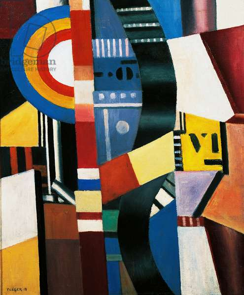 The disc, 1918, by Fernand Leger (1881-1955), oil on canvas, 65x54 cm. France, 20th century.
