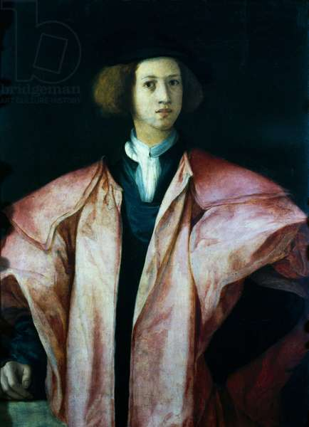 Alessandro de' Medici first Duke of Florence, 1534, by Jacopo Carrucci known as Pontormo (1494-1557), oil on board
